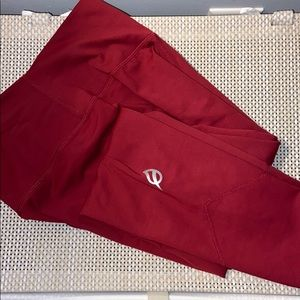 "The Alainah III Sleek Legging: 23"" - Cabernet Red"